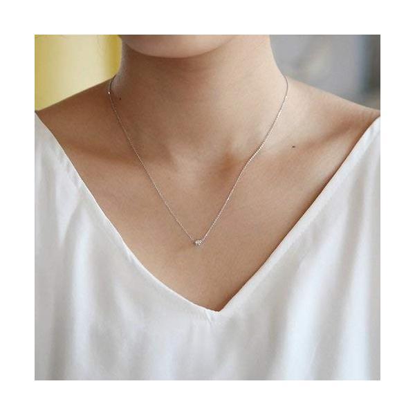 4℃(ヨンドシー) 0.1ctダイヤモンド プラチナネックレス 111033125001 liberty-online 04