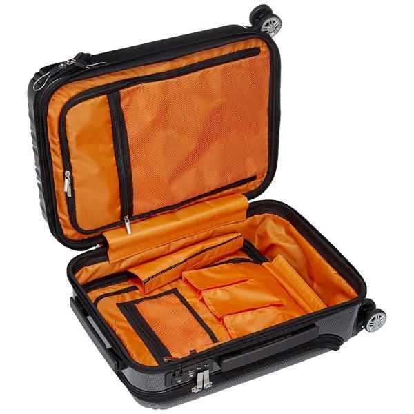 トラベリスト スーツケース ジッパー トップオープン トリニティ 機内持ち込み可 36L 53.5 cm 3.6kg ブラックカーボン|liberty-online