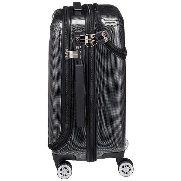 トラベリスト スーツケース ジッパー トップオープン トリニティ 機内持ち込み可 36L 53.5 cm 3.6kg ブラックカーボン|liberty-online|05