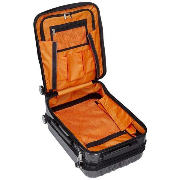 トラベリスト スーツケース ジッパー トップオープン トリニティ 機内持ち込み可 36L 53.5 cm 3.6kg ブラックカーボン|liberty-online|06