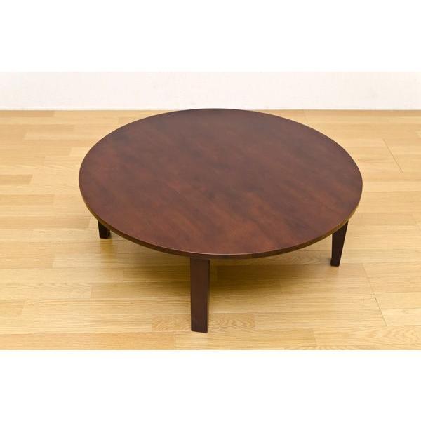 折りたたみテーブル 円形ちゃぶ台 折れ脚丸テーブル 木製ラウンドテーブル 90 丸座卓|liberty|03