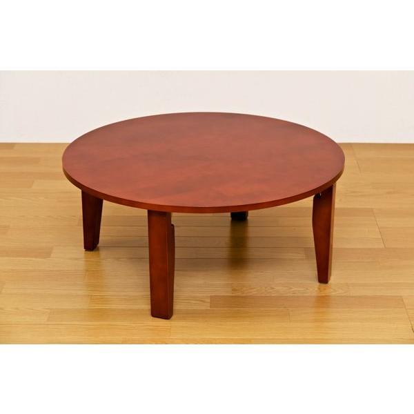 折りたたみテーブル 円形ちゃぶ台 折れ脚丸テーブル 木製ラウンドテーブル 90 丸座卓|liberty|05