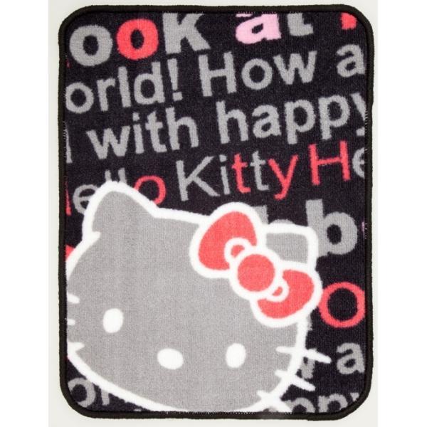 キティカーマット前後セット フロント2枚+リア用   汎用車用フロアマット ローズ liberty 02