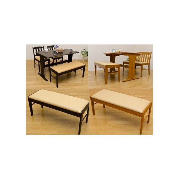 ダイニングベンチ背なし木製チェアー コローナ食卓長椅子/イス/ロビーチェア/待合いす ロング UHC-100|liberty