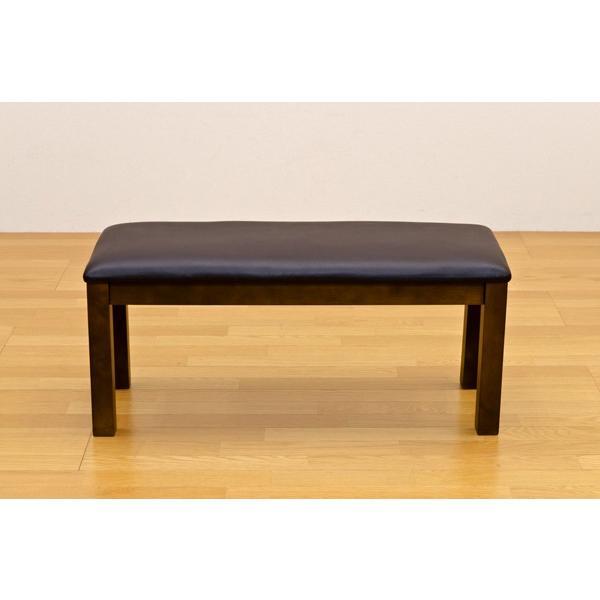 ダイニングベンチ 木製ロングチェアー/待合いす/イス/食卓長椅子 レザー |liberty|04