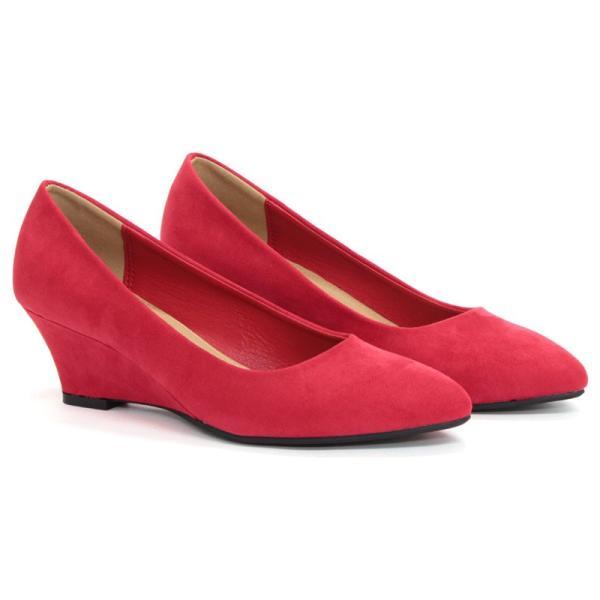 パンプス スウェード ポインテッドトゥ ウエッジヒール リバティードール 5色展開 レディース 婦人 靴 HEEL PUMPS 対象商品2足の購入で3600円(税別)