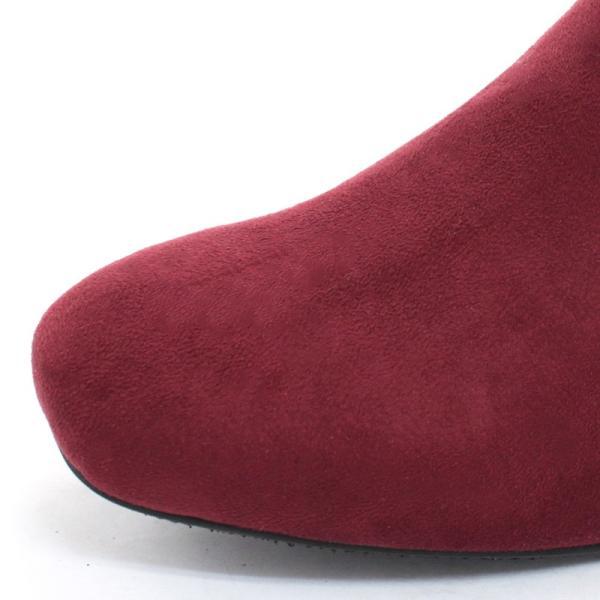 5cm ヒール カラフル タイル ブロック ショートブーツ サイドジップ ブーツ スエード 4色 5484 レディース 靴 シューズ 対象品2足で6000円 リバティドール
