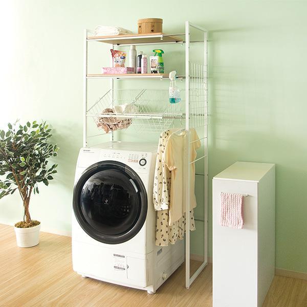 【送料無料】ランドリーラック 洗濯機ラック 収納 洗濯機棚 棚 収納ラック 収納棚  SH-X692C スチール 宮武製作所  ※メーカー直送の為代引き・同送できません。|licept