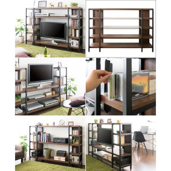 フリーTVラック Liberta(リベルタ)TV-1600  収納 40インチ 42インチ 木製 モダン ローボード avラック 小型 フレンチカントリー 壁面  壁面  dvdラック|licept|02