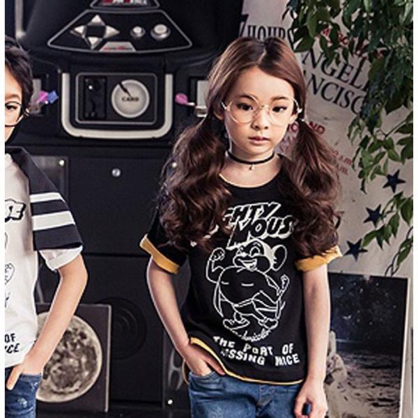 43c15d151fc8c 子供服 ミッキー 半袖カットソー 5分袖 韓国