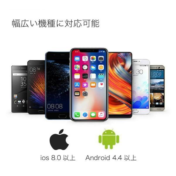 スマートブレスレット 血圧計 心拍計 歩数計 健康管理 天気予報 着信通知 LINE アプリ通知 Bluetooth iphone iOS & Android 日本語APP対応 日本語説明書付き|life-mart|09