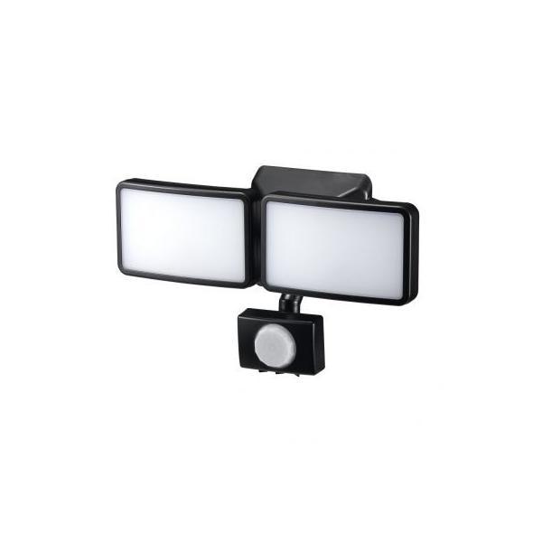 ヤザワ LEDセンサーライト ACコンセント式 防雨タイプ 調光タイプ 6W白色LED×2灯 リモコン付 SLR6LEA2
