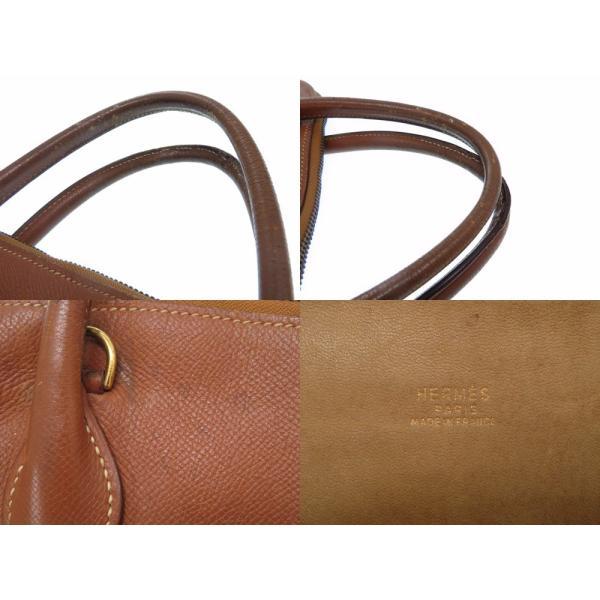 エルメス ボリード37 ハンドバッグ クシュベル ゴールド ○U刻印(1991年製) バッグ レディース 0129    HERMES
