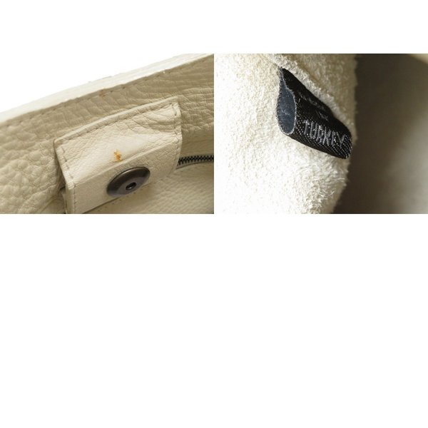 美品 マルベリー ホワイト レザー ハンドバッグ ショルダーバッグ レディース 0054    MULBERRY