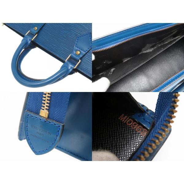 ルイ ヴィトン エピ サック トリアングル ブルー M52095 ハンドバッグ バッグ 三角 青 LV 0176 LOUIS VUITTON
