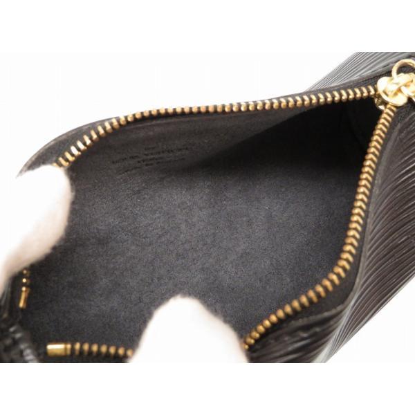 美品 ルイ ヴィトン エピ スフロ ミニ ポーチ ブラック ノワール バッグ 黒 LV 0033 LOUIS VUITTON