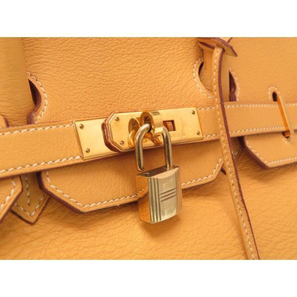 エルメス バーキン35 フィヨルド ナチュラルサブレ ゴールド金具 □A刻印 ハンドバッグ バッグ 0181 HERMES