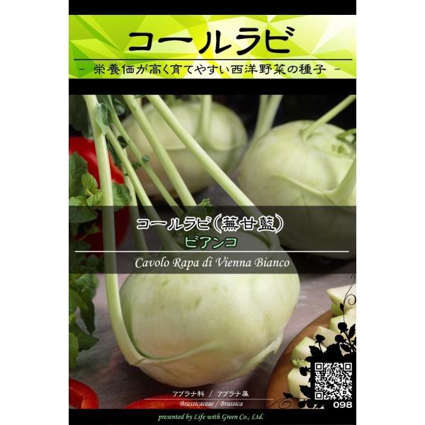 西洋野菜種子 コールラビ ビアンコ ×3袋【送料無料】 [Life with Green]|life-with-green