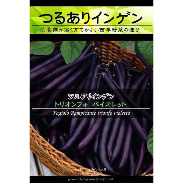 西洋野菜種子 つるありインゲン トリオンフォバイオレット [Life with Green]|life-with-green