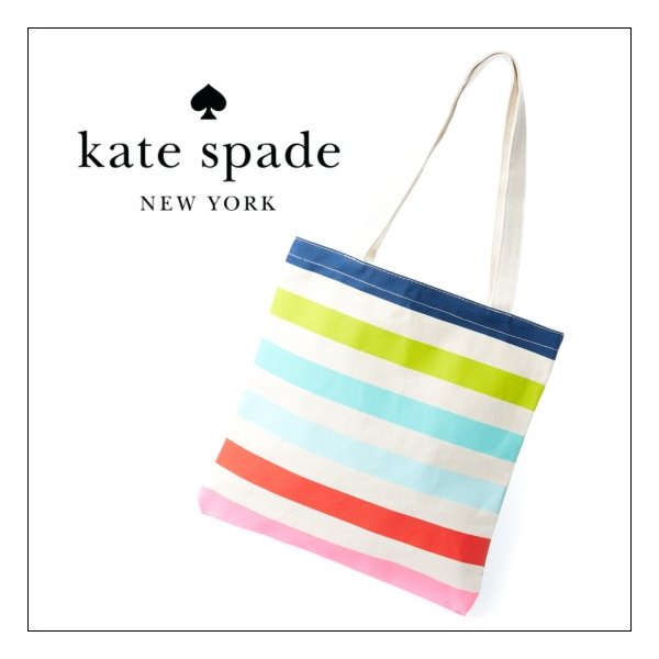 6d2ce2ee9 ケイトスペード キャンバストートバッグ ストライプ kate spade canvas book tote