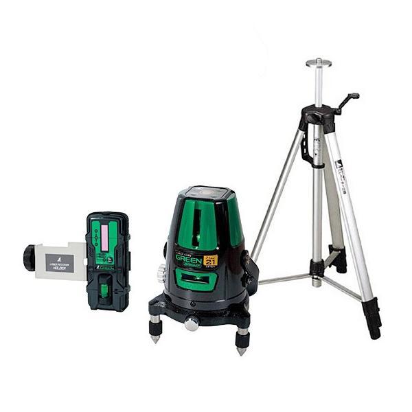 シンワ レーザー墨出し器 ロボ グリーン NEO 21 BRIGHT 縦・横・地墨 受光器・三脚セット 78284