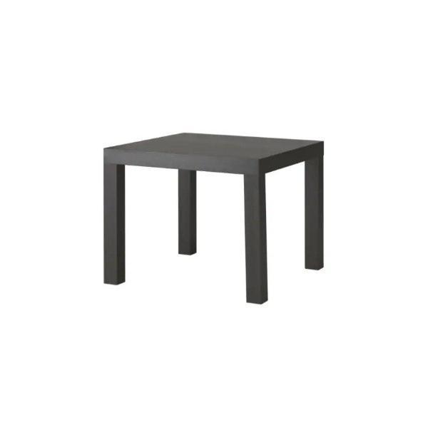 IKEAイケア750円LACKラックサイドテーブル,ブラックブラウンサイズ55x55cm