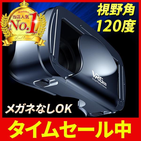 VRゴーグルヘッドセットメガネなしOK視野角120度iPhone7/10/11galaxyクリア画質5インチ〜7インチ
