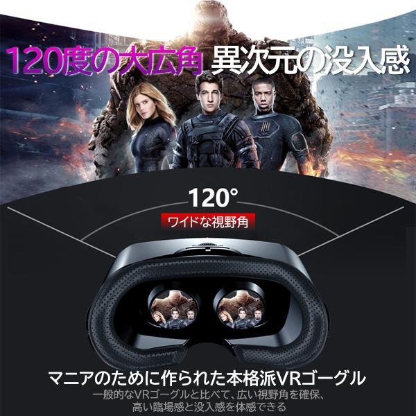 VRゴーグル ヘッドセット メガネなしOK 視野角120度 iPhone7/10/11 galaxy クリア画質 5インチ〜7インチ|lifecolor|13