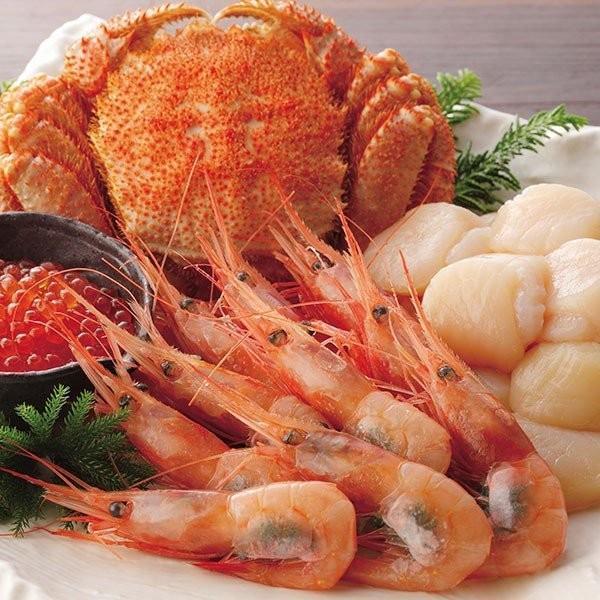 北海道 カネコメ田中水産 毛がに・ほたて・えび・いくらセット 21-1028-25 産地直送 食品 海鮮 魚介 詰め合わせ グルメ ギフト 贈りもの