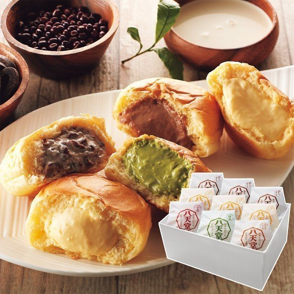 ふんわり とろりの食感を5つの味でお楽しみください 八天堂 プレミアムフローズン くりーむパン (9個) 21-378-19 クリーム パン スイーツ 菓子パン
