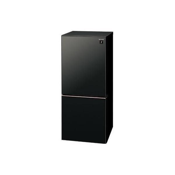 SJ-GD14E-B(ピュアブラック) 2ドア冷蔵庫 両開き 137L シャープ SJGD14EB