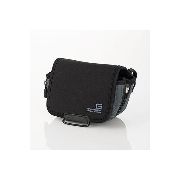 エレコム DGB-S022BK ミラーレス一眼カメラケース/ソフトタイプ/マチ拡張機能付き/Sサイズ/ブラック (DGBS022BK)