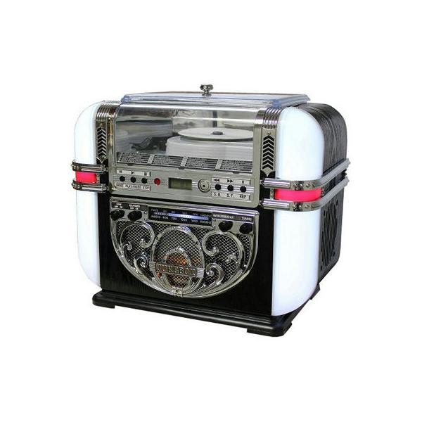 WINTECH KBYL-08 ジュークボックス型CDラジオ(ブラウン) (KBYL08)