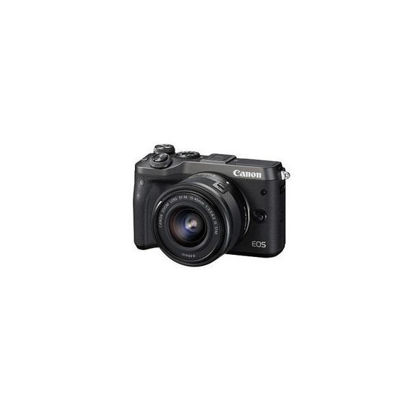 キヤノン EOSM6BK-1545ISSTMLK キヤノンミラーレスカメラ EOS M6・EF-M15-45 IS STMレンズキット (EOSM6BK1545ISSTMLK)