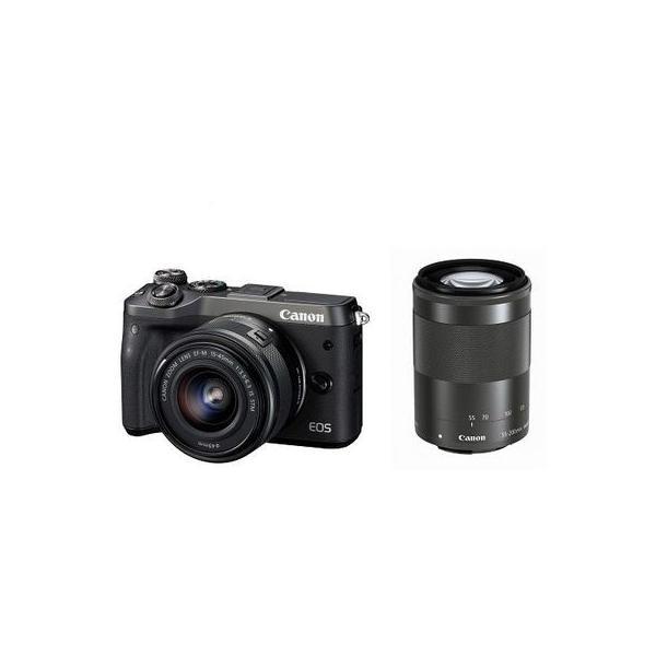 キヤノン EOSM6BK-WZK キヤノンミラーレスカメラ EOS M6・ダブルズームレンズキット (EOSM6BKWZK)
