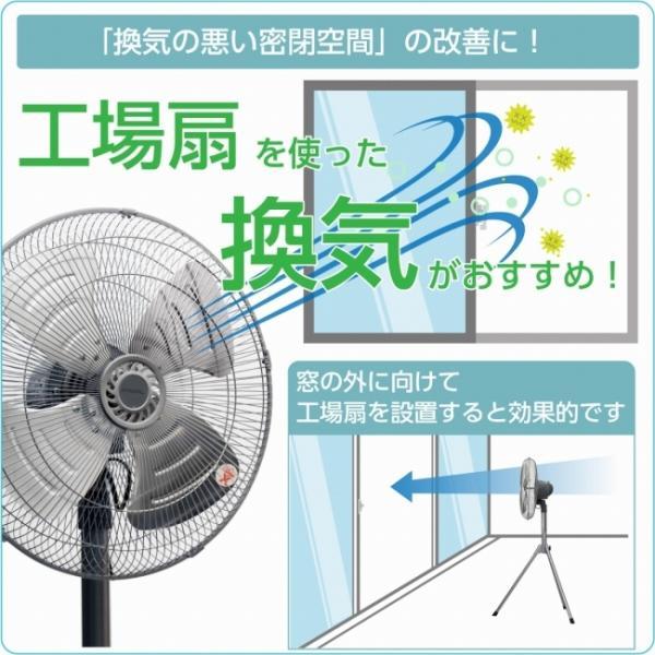 プロイル 工場扇 壁掛け型 45cm アルミ羽根 首振り 風量3段階 風量調節ひも付 FHA451|lifejoy|02