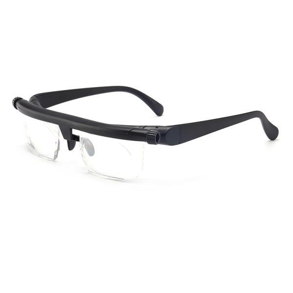 度数調整眼鏡 WKS126 ブラック 専用ケース付き 老眼鏡 シニアグラス 度数 調整 調節 眼鏡 メガネ 近視 遠視 老眼 男性 女性 ドゥーライフワン同等