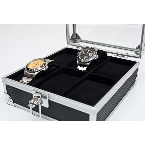 アルミウォッチケース 6本用 腕時計用ケース 時計収納ケース コレクションケース メンズ 腕時計 ウォッチ レディース ブランド  アクセサリー 紳士 腕時計収納|lifemaru|03