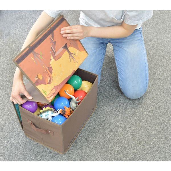 トイプレイボックス(ダイナソー)男の子向き 子供部屋 収納ボックス おままごと お片付け おもちゃ箱 かわいい おしゃれ 家具|lifemaru|04
