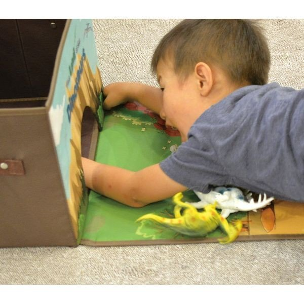 トイプレイボックス(ダイナソー)男の子向き 子供部屋 収納ボックス おままごと お片付け おもちゃ箱 かわいい おしゃれ 家具|lifemaru|05