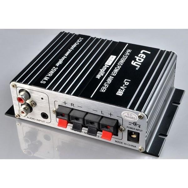 コンパクトデジタルアンプ LEPY LP-V3s 25W×2 高音質 デジモノ TDA8566チップ採用 PSE認証 12V 5Aアダプタ付き LP-V3S