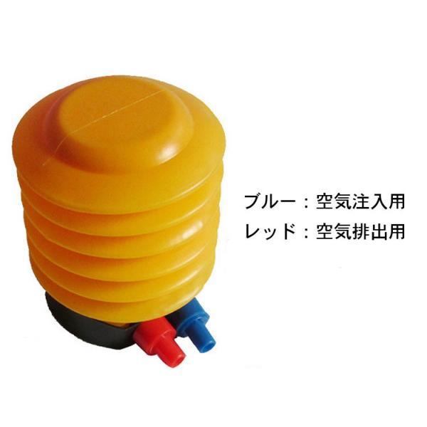 足踏み式エアーポンプ 空気入れ エアーポンプ 空気注入・排出 水遊び エアーベッド ビニールプール 浮き輪にお勧め 持ち運びエアーポンプ LP-AIRP40