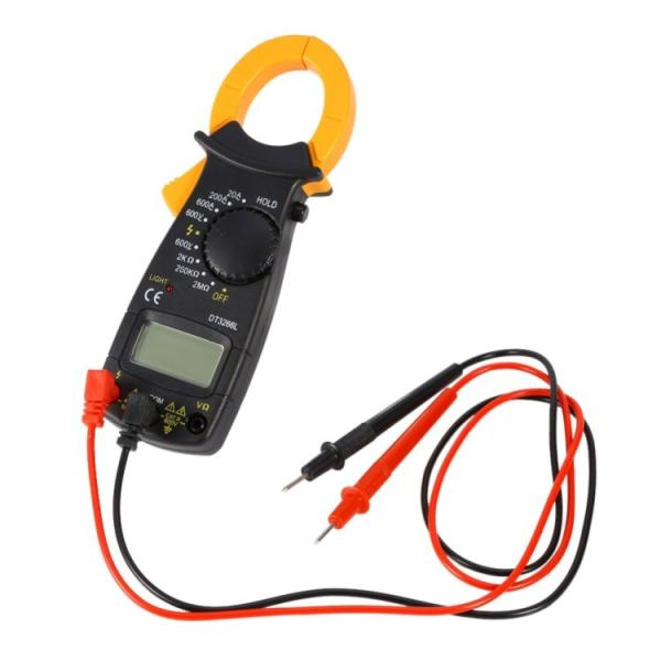 デジタルクランプメータ電流測定器AC/DC両用デジタルマルチメータクランプ式非接触計電流計電圧計電子テスタ抵抗試験器テストリード