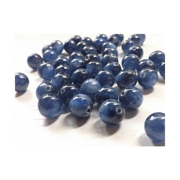 天然石 卸 カイヤナイト 粒売り 8mm 3粒 tb-108