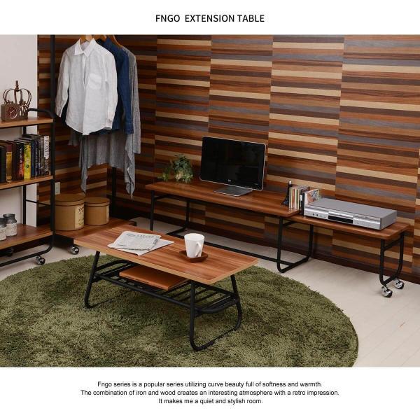 ローテーブル センターテーブル リビングテーブル 木 木製 北欧 シンプル 長方形 Fngoシリーズ おしゃれ 伸縮テーブル テレビ台 送料無料|lifestyle-funfun|02