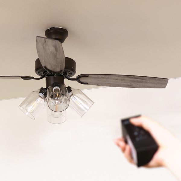シーリングファン シーリングファンライト リモコン付き 電球別売 LED対応 おしゃれ 照明 天井照明 リビング 北欧 JAVALO ELF ヴィンテージ 4灯 JE-CF027 lifestyle-funfun 11