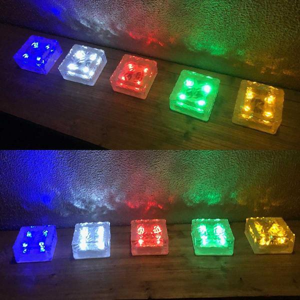 クーポンで5%OFF LED ガーデンソーラーライト 2個セット 5色 ソーラー充電式 センサー ウォールライトブロックライト ガラス 玄関 庭 防滴 照明 lifestyle-funfun 10