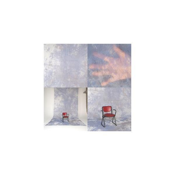 撮影背景 背景用不織布バックグランドペーパークロス/ムラバック ブルー系(3x6m)