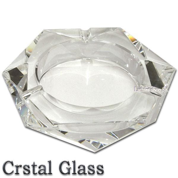 クリスタルガラス 卓上 灰皿 ヘキサゴン