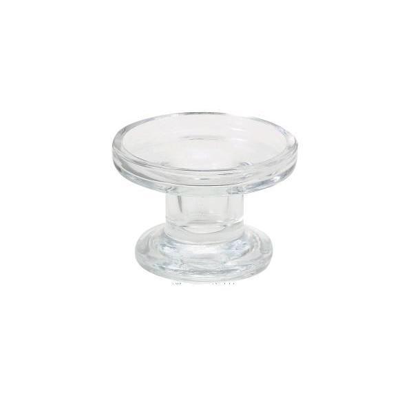 キャンドルスタンド ラウンドスタイル ガラス製キャンドルホルダー